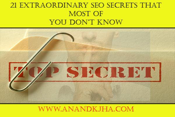 Proven SEO Secrets