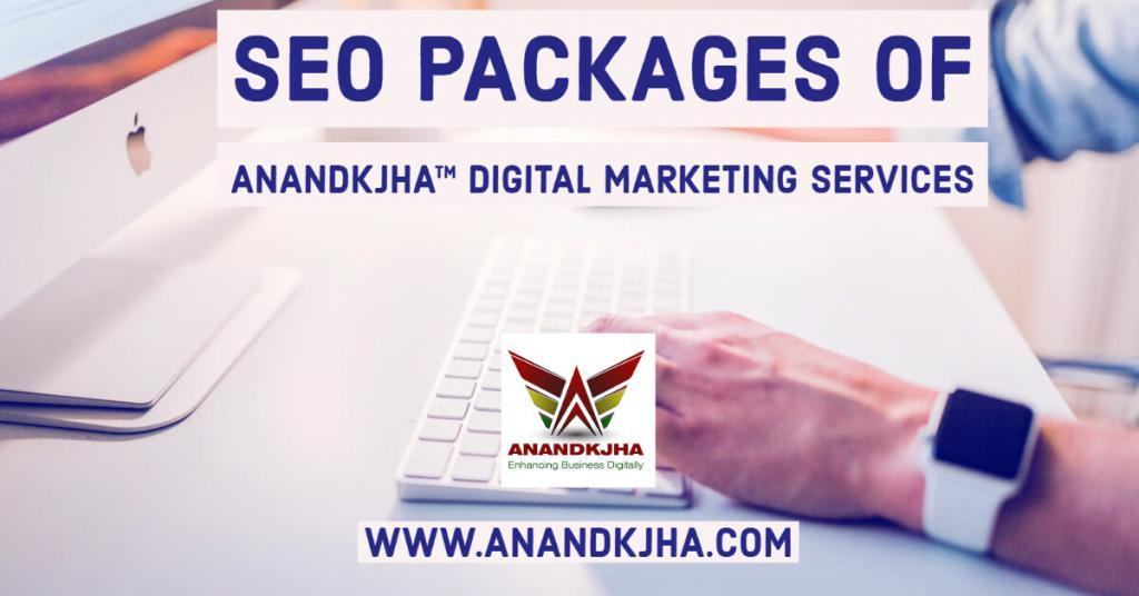 SEO packages India plan of Anandkjha digital marketing services